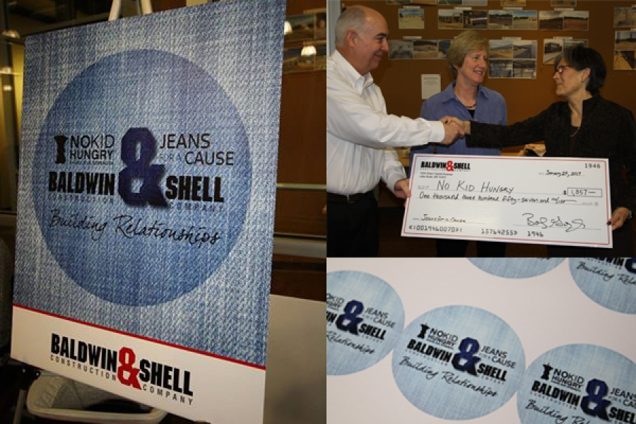 Baldwin & Shell Employees Raise $1357 for No Kid Hungry Arkansas